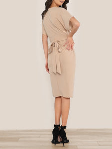Batwing Split Front Dress