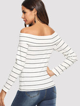 Load image into Gallery viewer, OFF SHOULDER CRISSCROSS TOP