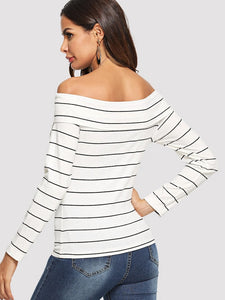 OFF SHOULDER CRISSCROSS TOP