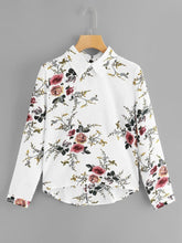 Load image into Gallery viewer, BOTANICAL LONG SLEEVE BLOUSE