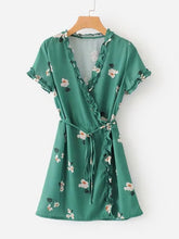 Load image into Gallery viewer, Floral Wrap Dress
