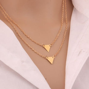 European and American jewelry leaf clavicle chain brand temperament personality fashion simple circle bar Necklace woman