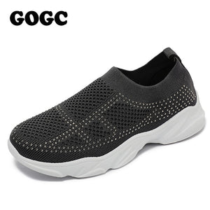 GOGC breathable mesh sneaker women casual sneaker sports shoes 2020 spring summer lace up women shoes chaussures femme G692