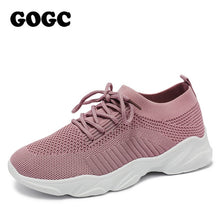 Load image into Gallery viewer, GOGC breathable mesh sneaker women casual sneaker sports shoes 2020 spring summer lace up women shoes chaussures femme G692