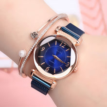 Load image into Gallery viewer, Women watch Fashion wild New watch Milan Magnet Buckle Luxury Fashion Ladies Geometric Roman Numeral Quartz movement Watch