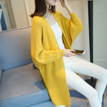 Load image into Gallery viewer, 2020 Long Cardigan women Sweater Autumn Winter Bat sleeve Knitted Sweater Plus size Jacket Loose Ladies Sweaters Cardigans 3XL