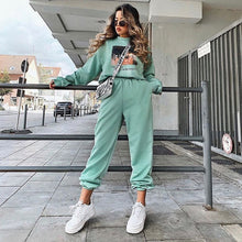 Load image into Gallery viewer, Rockmore Baggy Pencil Pants Women Plus Size Black Winter Wide Leg Sweat Pants Oversized Joggers Streetwear High Waisted Trousers
