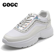 Load image into Gallery viewer, GOGC sneakers women Platform Sneakers chunky sneakers Spring Women Casual flats shoes women golden Shoes Women slipony G6815