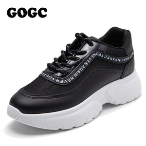 GOGC sneakers women Platform Sneakers chunky sneakers Spring Women Casual flats shoes women golden Shoes Women slipony G6815