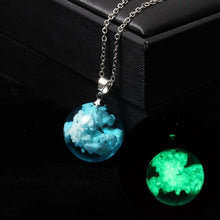 Load image into Gallery viewer, Chic Transparent Resin Rould Ball Moon Pendant Necklace Women Blue Sky White Cloud Chain Necklace Fashion Jewelry Gifts for Girl