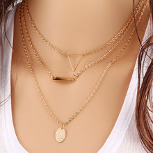 Load image into Gallery viewer, Vintage Multilayer Crystal Pendant Necklace Women Gold Color Beads Moon Star Horn Crescent Choker Necklaces Jewelry New