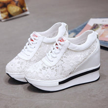 Load image into Gallery viewer, Hot Sales 2020 Summer New Lace Breathable Sneakers Women Shoes Comfortable Casual Woman Platform Wedge Shoes
