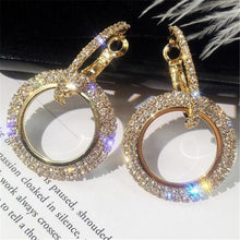 Load image into Gallery viewer, Trendy Fashion Metal Elegant Hoop Earring Woman 2019 New Vintage Gold Color Cheap korean Statement Earrings Accessories brincos