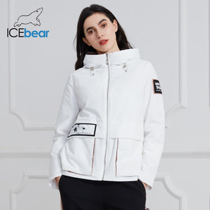 ICEbear 2020 New Women Coat Spring Casual Women Jacket Women Jacket Hooded Quality Women Clothing GWC20728I