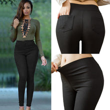 Load image into Gallery viewer, Plus Size Women Pencil Pants Cotton Trousers 2019 New Pocket Trousers Slim Jeggings Denim Skinny