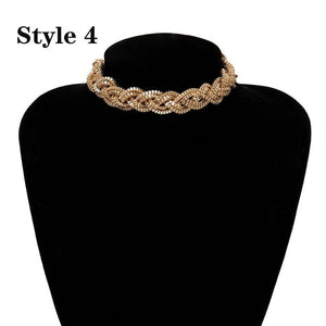 Punk Miami Cuban Choker Necklace Collar Statement Hip Hop Big Chunky Aluminum Gold Color Thick Chain Necklace Women Jewelry