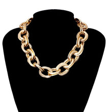 Load image into Gallery viewer, Punk Miami Cuban Choker Necklace Collar Statement Hip Hop Big Chunky Aluminum Gold Color Thick Chain Necklace Women Jewelry