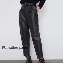 Load image into Gallery viewer, Women elegant black pants sashes pockets zipper fly solid ladies streetwear 2020 casual chic trousers pantalones 9 colors