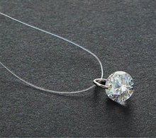 Load image into Gallery viewer, Fashion Shiny Crystal Necklace Zircon Pendant Transparent Fishing Line Invisible Ladies Necklace Jewelry Clavicle Chain Chocker