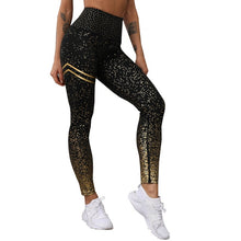 Load image into Gallery viewer, NORMOV New Hotsale Women Gold Print Leggings No Transparent Exercise Fitness Leggings Push Up Workout Female Pants