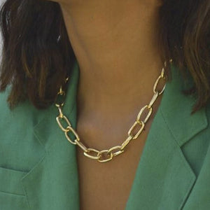 Gold Chain Necklace Chokers For Women Gold Color Geometric Pendant Necklaces Boho Maxi Statement Party Jewelry