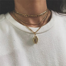 Load image into Gallery viewer, Boho Multi-element Crystal Necklaces For Women Fashion Gold Silver  Necklace Vintage Multiple Layers Pendant Necklace Jewelry