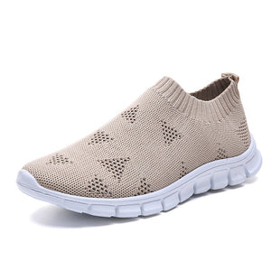Rimocy Plus Size 43 Breathable Mesh Platform Sneakers Women Slip on Soft Ladies Casual Running Shoes Woman Knit Sock Shoes Flats