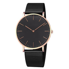 Load image into Gallery viewer, Fashion Women Watches Ultra Thin Stainless Steel Mesh Belt Quartz Wrist Watch Ladies Dress Watch Classic Rose Gold Clock Casual