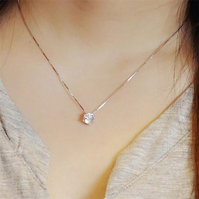 Simple Style   Pendant Necklace for Women Delicate Six-Claw Clavicle Chain Necklace Accessories Jewelry Gift