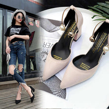 Load image into Gallery viewer, 2020 new Korean version wild suede pointed high heels word buckle single shoes sexy comfortable trend high heels ladies shoes