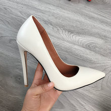 Load image into Gallery viewer, 2020 Women Classic Pumps Extreme High Heels 12cm Sexy Stilettos Ladies Pointed Toe Shoes Nude Red Blue Black Beige Leopard Heels