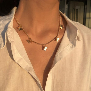 2020 New Bohemia Vintage Crystal Geometric Star Necklace For Women Fashion Gold Color Chain Boho Heart Pendant Necklaces Jewelry