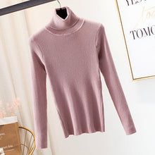 Load image into Gallery viewer, GUMPRUN Winter Women Knitted Turtleneck Sweater 2020 Fall Casual Slim Sweaters Pullover Womens Long Sleeve Elasticity Sweater