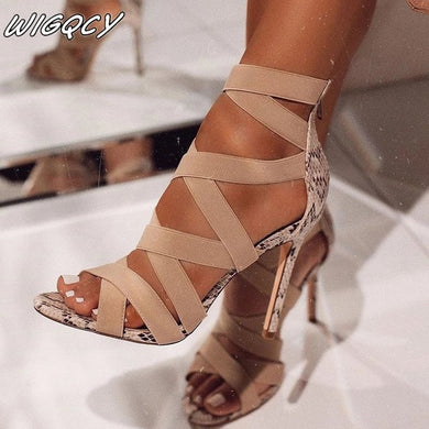 Women Sandal High Heels Gladiator Ankle Strap Woman Peep Toe Stiletto Sexy Women Heels Chaussures Femme Summer Pumps Women