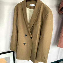 Load image into Gallery viewer, Toppies 2020 Spring Women Blazer Suits Doule Breasted Pink Blazer High Waist Skirt Office Lady Sets