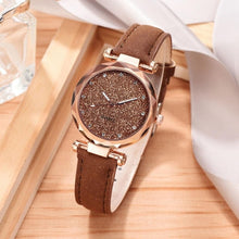 Load image into Gallery viewer, Women Watch Rhinestone Romantic Starry Sky WristWatch Fashion Ladies Leather Watch Clock for Women Relogio Feminino Montre Femme