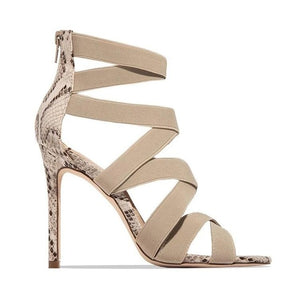 2020 NEW High Heels Sandals Summer Sexy Ankle Strap Open Toe Gladiator Party Dress Women Shoes Zapatos De Mujer