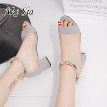 Load image into Gallery viewer, 2020 Sandalias femeninas high heels Autumn Flock pointed sandals sexy high heels female summer shoes Female sandals mujer s040