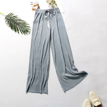 Load image into Gallery viewer, DASSWEI Summer Wide Leg Pants For Women Casual Elastic High Waist 2020 New Fashion Loose Long Pants Pleated Pant Trousers Femme