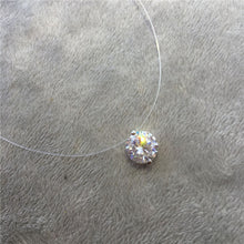 Load image into Gallery viewer, Choker Invisible Fish Line Crystal Necklace Pendants Neck Zircon Women Clavicle Chain Lady Feminino Collar