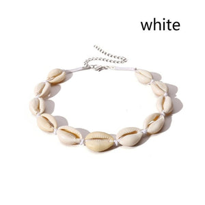 Bohemian Natural Shell Necklace for Women Cowrie Charm Conch Seashell Collar Choker Beach Boho Summer Necklaces Jewelry Collares