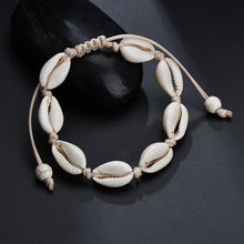 Load image into Gallery viewer, Bohemian Natural Shell Necklace for Women Cowrie Charm Conch Seashell Collar Choker Beach Boho Summer Necklaces Jewelry Collares