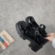 Load image into Gallery viewer, Small leather shoes women 2020 spring models Mary Jane shoes women's Japanese high heels retro platform shoes women
