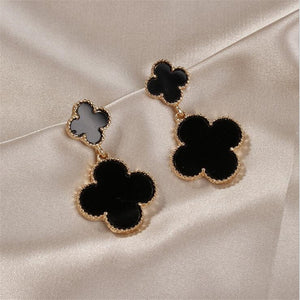 Popular European and American new four-leaf clover pendant ladies temperament earrings