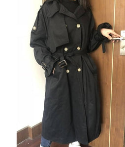 Fashion Fall Winter 2020 casual cotton trench coat with sashes oversize vintage long coats overcoats