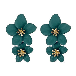 VKME Fashion Oversized flower Drop Earrings Women brincos Irregular earrings Girls gift Birthday party Accessories