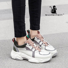 Load image into Gallery viewer, MALEMONKEY  Women Sport Casual Sneakers 2020 Genuine Leather Breathable Bottom Comfortable Sneaker Platform Shoes Women 012874