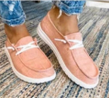Load image into Gallery viewer, Women Flats Casual Shoes Woman Lace Up  Shoe Fabric Students Girl Flat Casual Chaussures Femme Zapatos Mujer Sapato Espadrilles