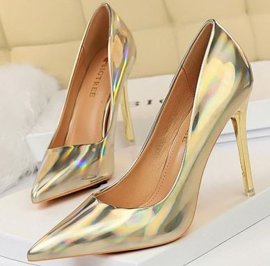 YEELOCA 2020 Women Designer Blue Green m002 High Heels Pumps Patent Leather Stripper Stiletto Wedding XS05674