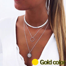 Load image into Gallery viewer, Necklace Womans Multilayer Necklaces For Women Jewelry Gold Colors Korean Trendy High Quality Metals Geometric Collares Mujer